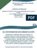 Realidades y Dudas de La Minería Colombiana