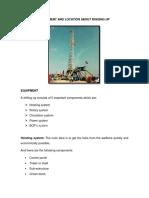 Equipo y Ubicación Para El Montaje de La Torre de Perforacion Finalizado