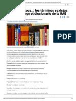 Perra, Loba, Loca... Los Términos Sexistas Que Aún Recoge El Diccionario de La RAE
