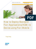 How to Deploy Standard Fiori Applications(HCM) to Device Using Fiori Mobile