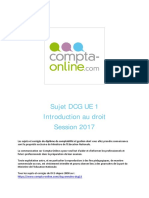 Sujet 2017 DCG UE1 Introduction Au Droit