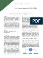 OverviewofSoftwareTestingStandardISOIECIEEE29119
