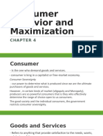 Consumer Behavior and Maximization