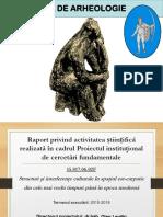 Raport Proiect Centrul Arheologie IPC 2015-2018