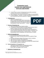 Comparative Law , Common and Civil Law - CB