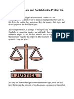 How Does the Law and Social Justice Protect the Workers.docx