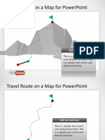 8072 Travel Route on a Map Powerpoint
