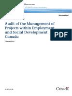E Audit Managementprojects Esdc