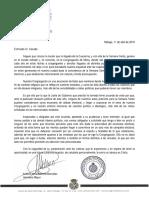 Carta de la Congregación de Mena