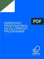Emerging Professional Development Programme 2018