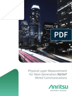 Physical Layer Measurement for Next Generation 5G IoT Wired Communications