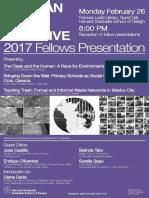 17 | Harvard GSD. Mexican city initiatives. 2017 Fellows Presentation. | USA