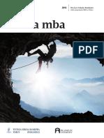Informator 2019 - studia MBA - Wyższa Szkoła Bankowa w Toruniu