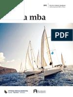 Informator 2019 - studia MBA - Wyższa Szkoła Bankowa w Szczecinie