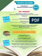 Tematica expoziţiilor organizate în luna aprilie de Biblioteca Ştiinţifică USARB