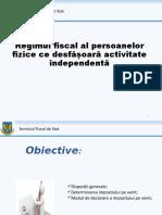 6 Regimul Fiscal Al Persoanelor Fizice Ce Desfasoara Activitate Independenta