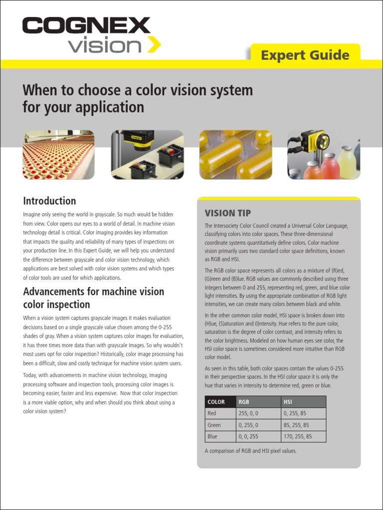 Expert Guide- When to Choose a Color Vision System for Your