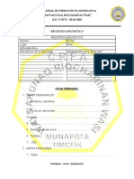 Formato de Datos - Tutoria