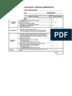 Ficha Para La Evaluacion Del Personal Administrativo-Grupo Profesional