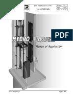 Hydraulic MRL With Cabinet