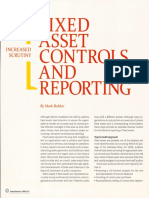 Fixed Assets Control