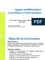 Presentation Langages Scientifiques