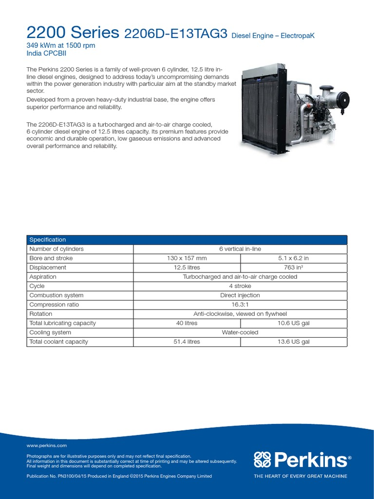 2206d 400 Kba Electropak | sel Engine | Engines on