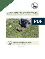 Plan Conservación del Huemul Parque Nacional Lago Puelo
