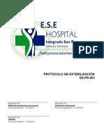 Es Pr 001 Protocolo Esterilizacion