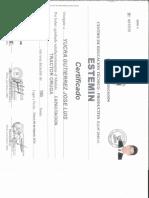 Certificado de Maquinaria Jlyg