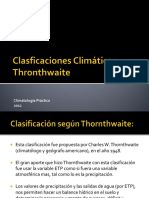 Clasificacion Thronthwaite
