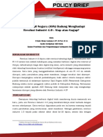 Policy Brief Kesiapan ASN Badung Menghadapi Revolusi Industri 4.0