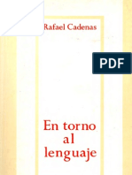 Rafael Cadenas en Torno Al Lenguaje