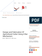 Design and Fabrication of Agricultural Cutter Using 4 Bar Mechanism