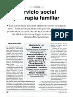 Servicio Social y Terapia Familiar