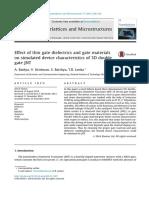 Superlattices and Microstructures 77 (2015) 209-218