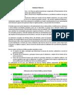 informe sobre finanzas publicas y sus derivados