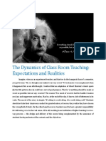 Dynamics of Classroom Learning