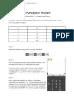 The Pythagorean Theorem Example