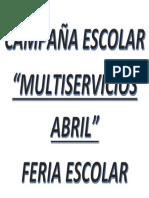CAMPAÑA ESCOLAR