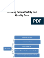 Defining Patient Safety and Quality Care
