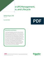 Single Phase UPS Management, Maintenance, and Lifecycle.pdf