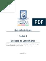 Guia Del Estudiante Módulo 1 SOCIEDAD DEL CONOCIMIENTO
