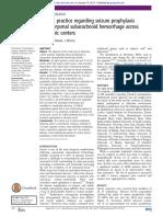 Current Practice Regarding Seizure Prophylaxis in Aneurysmal Subarachnoid Hemorrhage Across Academic Centers