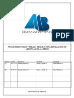 Pts 09 Procedimiento de Trabajo Seguro Instalacion de Ventanas de Aluminio (Actualizado)