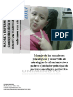 CARTILLA atencion niños con cancer