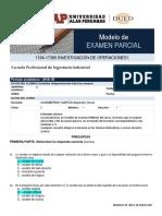 Modelo de Examen Parcial IO1
