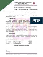 Resolución Directoral Nº 029- 2017 Comité de Mantenimiento
