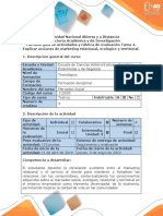 Guía de actividades y rúbrica de evaluación - Tarea 4 - Explicar acciones de marketing relacional, ecológico y territorial.docx