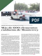 12-04-19 Más de 600 elementos cuidarán de Monterrey